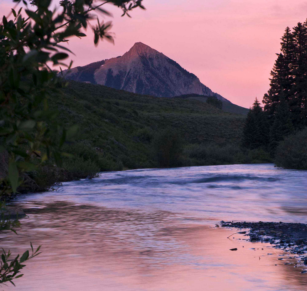Slate Creek at sunset