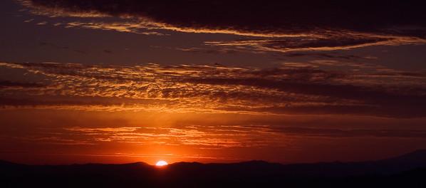 Sunrise on the deck