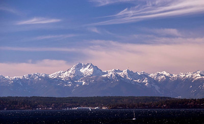 Amazingly clear day - what a view of the Olympic Range.