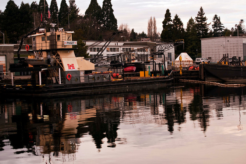 Seattle, the Locks in the late afternoon light