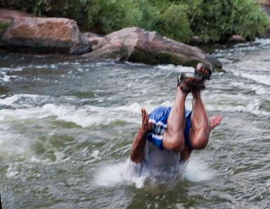 Fun on the Platte, Denver's largest free swimming spot (Confluence Park)