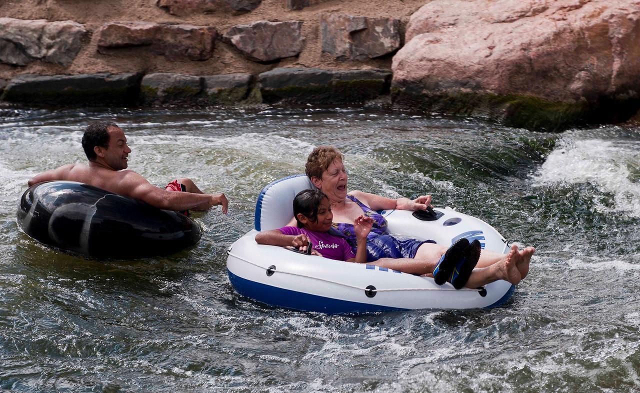 Fun on the Platte, Denver's largest free swimming spot (Confluence Park)
