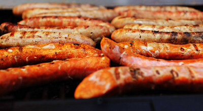 Denver Chalk Arts Festival  . . . and if you've had enough turkey legs, here are some brats!