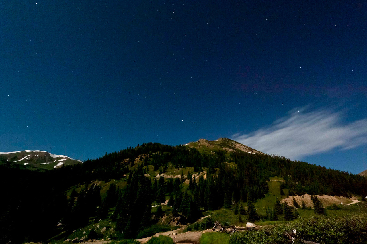 Jones Pass area, by moonlight.  Sweet!