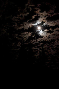 Cloud racing by moonlight