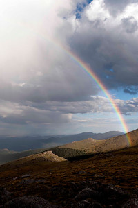Rainbow delights on what D2 calls Marmot Hill.  There were actually times this rainbow was a full double.  Sweet start to the evening's shoot!