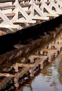 bridge detail, Sprague Lake, Rocky Mountain National Park