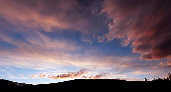 sunset, Sprague Lake, Rocky Mountain National Park