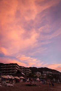 Zona Romantica, in the golden glow of sunset