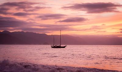Sunset, on the beach Zona Romantica