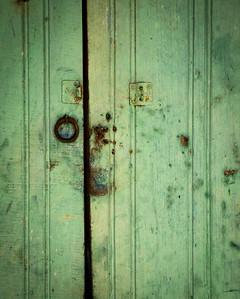 Loveliness, even in the aging door