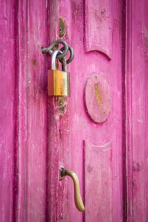 Hot pink - sweet!  Wonder what's behind the locked door . . .
