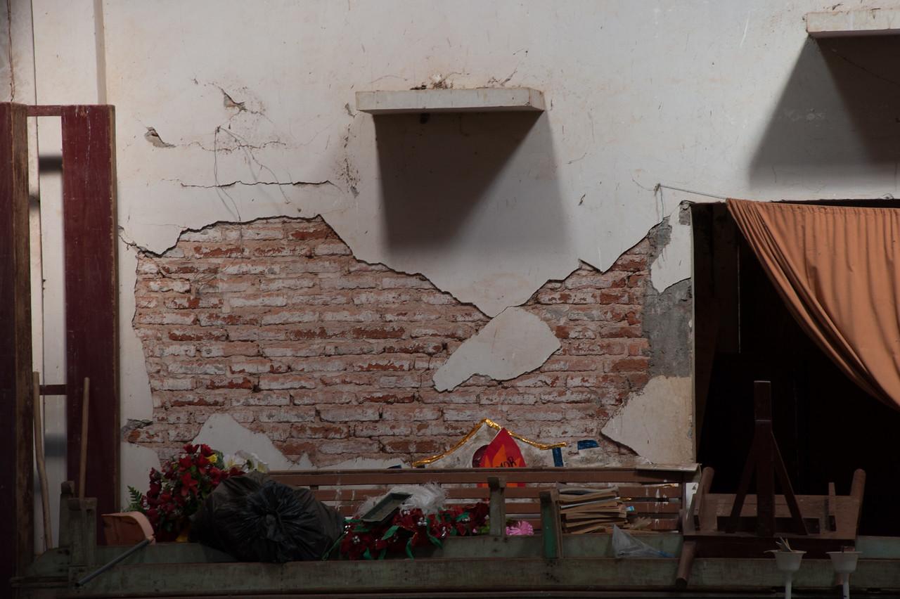Peeking in through a broken window<br /> Santa Ana community church
