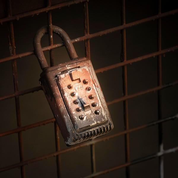 Behind the locked gate . . .