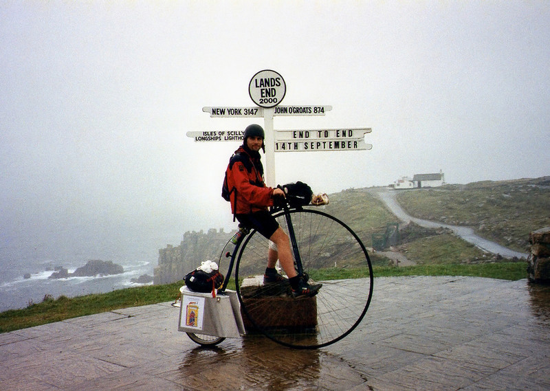 The start of my ride from lands end to John O'Groats.