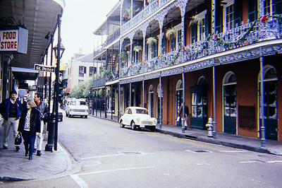 Hanging out in the French Quarter of New Orleans.