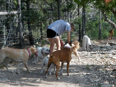 keeping the pack happy_Lilly C, Hootie, Sophie Coffman, Biscuit and Ranch Hand Hailey