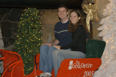 Biggest kids to have their picture taken in the Grove Park Inn sled