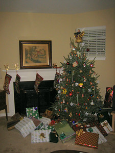 All the stockings were hung by the chimney with care, in the hope that St. Nicholas soon would be there