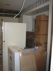 Day 2: Cabinets arrive to an already over crowded house