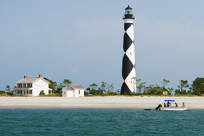 The famous Cape Lookout Lighthouse