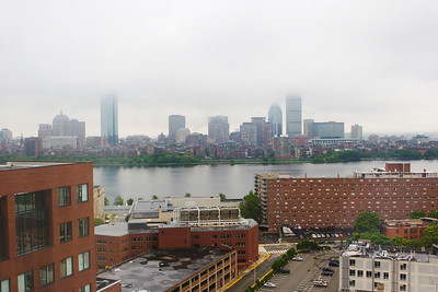 View of Boston from our hotel (look left)