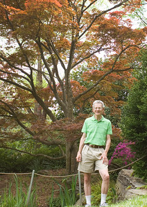 The tree behind Dad was planted when he was a student at Duke.  It was a little awkward when the tree didn't remember him.