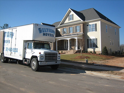 Our house on moving day