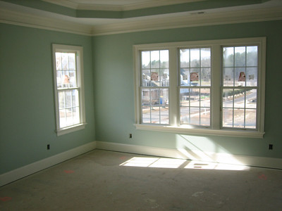 master bedroom.  10 ft trey ceiling