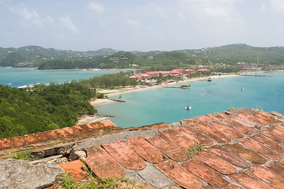 View from fort at Pigeon Island