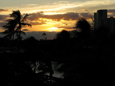 Sunset from our Lanai.  I'm pretty sure that's just a fancy term for a balcony.