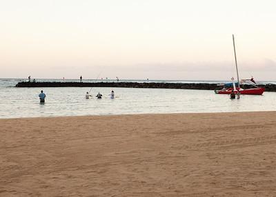 Waikiki beach in the morning