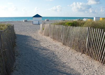 Beach access at Marriott