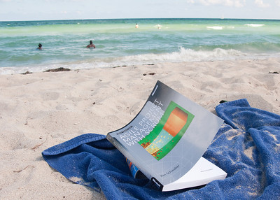 Only person on the beach with this book