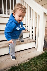 taking steps like a big boy