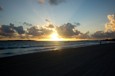 Sunrise over Orient Beach