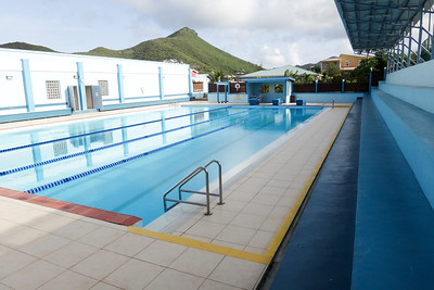 Belair Health & Fitness Club - swam here twice while on the island.  Really nice pool for such a small island.