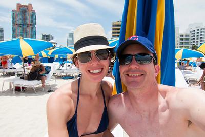 Beach chair selfie