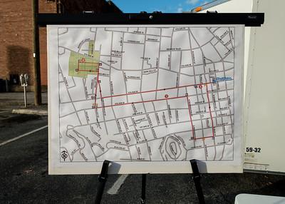 Hendersonville Turkey Trot 2014 Route Map