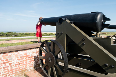 Ty inspects the business end of a canon