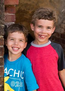 Kids at Ft Macon