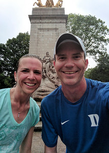Morning run in Central Park with Kim