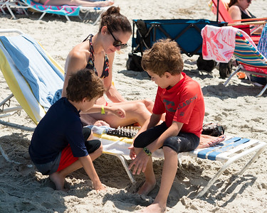 The first time chess has ever been played on a NC beach (in SC it's actually outlawed)