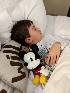 Fast asleep with his new Mickey