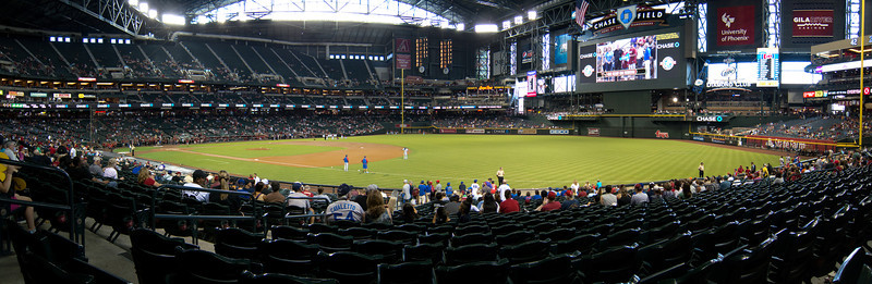 View from our seats at Chase Field