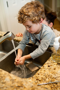 Hand washing is always the most important step in food prepared by kids