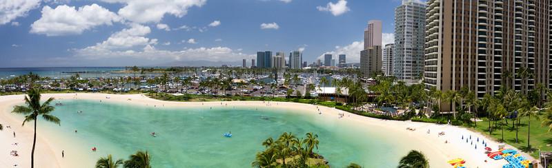 Hilton Hawaiian Village, Rainbow Tower, View from Room 708