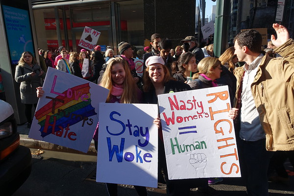 Members of the Fieldston Community Represent at the Women's March in D.C. and New York City