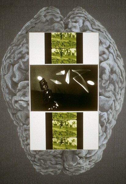"Brain Leap Mind. Pencil on paper and photographic prints,  13"" x 19,"" 1998"