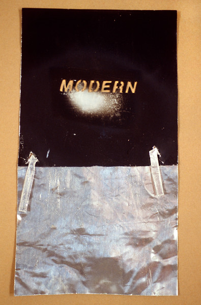"Moder-post Modern Signs. Aluminum projection slide, 2"" x 4"", 1997."